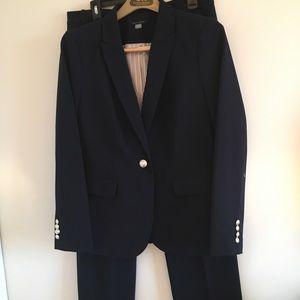 Tommy Hilfiger Dark Blue 2PC Pant Suit-EUC